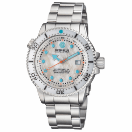 JUGGERNAUT IV SWISS AUTOMATIC � DIVER MOTHER OF PEARL WHITE DIAL BRACELET