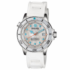 JUGGERNAUT IV SWISS AUTOMATIC � DIVER MOTHER OF PEARL WHITE DIAL STRAP