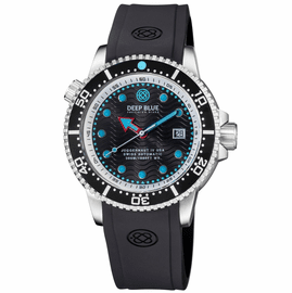 JUGGERNAUT IV USA  SWISS AUTOMATIC – DIVER #4 BLACK/WHITE BEZEL -  BLACK DIAL  STRAP