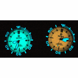 Lume Shots - Blue dial / Orange dial