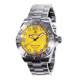 Marine Diver Yellow Wave dial