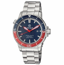 MASTER 1000 2.5 -  60 HOUR POWER RESERVE AUTOMATIC � CERAMIC BEZEL DIVER BLUE/RED BEZEL BLUE DIAL
