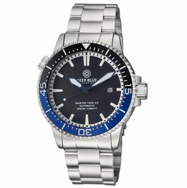 MASTER 1000 2.5 -  60 HOUR POWER RESERVE AUTOMATIC  CERAMIC BEZEL DIVER BLACK/BLUE BEZEL BLACK DIAL