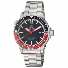 MASTER 1000 2.5 -  60 HOUR POWER RESERVE AUTOMATIC – CERAMIC BEZEL DIVER BLACK/RED BEZEL BLACK DIAL