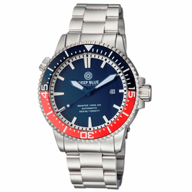 MASTER 1000 2.5 -  60 HOUR POWER RESERVE AUTOMATIC – CERAMIC BEZEL DIVER BLUE/RED BEZEL BLUE DIAL