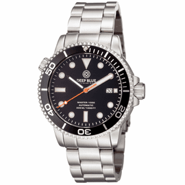 MASTER 1000 AUTOMATIC DIVER BLACK BEZEL -BLACK DIAL- ORANGE SECOND HAND BRACELET