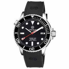MASTER 1000 AUTOMATIC DIVER BLACK BEZEL -BLACK DIAL- RED SECOND HAND
