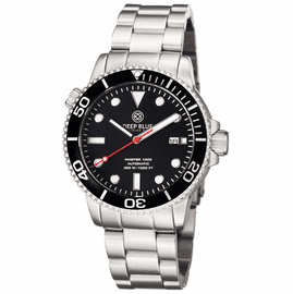 MASTER 1000 AUTOMATIC DIVER BLACK BEZEL -BLACK DIAL- RED SECOND HAND BRACELET