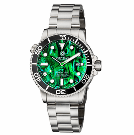 MASTER 1000 AUTOMATIC DIVER BLACK BEZEL � GREEN ABALONE SHELL DIAL  BRACELET