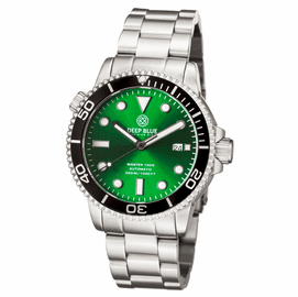 MASTER 1000 AUTOMATIC DIVER BLACK BEZEL -GREEN SUNRAY DIAL BRACELET