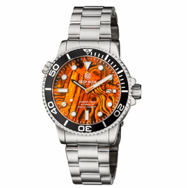 MASTER 1000 AUTOMATIC DIVER BLACK BEZEL � ORANGE ABALONE SHELL DIAL  BRACELET