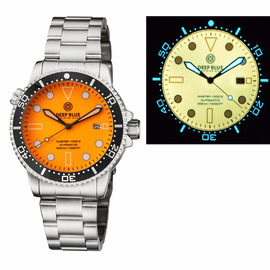 MASTER 1000 AUTOMATIC DIVER CERAMIC  BLACK BEZEL - ORANGE  FULL LUMINOUS DIAL  BRACELET