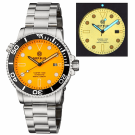 MASTER 1000 AUTOMATIC DIVER BLACK BEZEL - ORANGE  FULL LUMINOUS DIAL  BRACELET