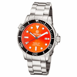 MASTER 1000 AUTOMATIC DIVER BLACK BEZEL -ORANGE SUNRAY DIAL BRACELET
