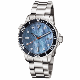 MASTER 1000 AUTOMATIC DIVER BLACK BEZEL -PLATINUM MOTHER OF PEARL DIAL BRACELET
