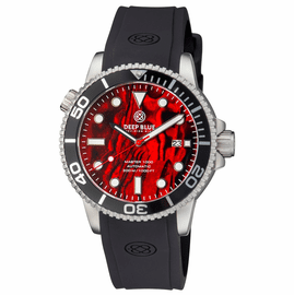 MASTER 1000 AUTOMATIC DIVER BLACK BEZEL -  RED ABALONE SHELL DIAL