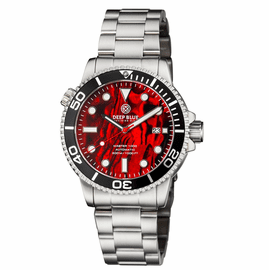 MASTER 1000 AUTOMATIC DIVER BLACK BEZEL -  RED ABALONE SHELL DIAL  BRACELET