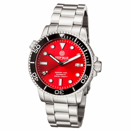 MASTER 1000 AUTOMATIC DIVER BLACK BEZEL -RED SUNRAY DIAL BRACELET