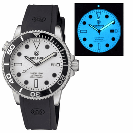 MASTER 1000 AUTOMATIC DIVER BLACK BEZEL - WHITE FULL LUMINOUS DIAL