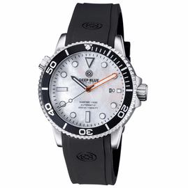 MASTER 1000 AUTOMATIC DIVER BLACK BEZEL -WHITE MOTHER OF PEARL  DIAL