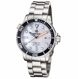 MASTER 1000 AUTOMATIC DIVER BLACK BEZEL -WHITE MOTHER OF PEARL DIAL BRACELET