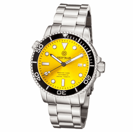 MASTER 1000 AUTOMATIC DIVER BLACK BEZEL -YELLOW SUNRAY DIAL BRACELET
