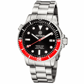 MASTER 1000 AUTOMATIC DIVER BLACK/RED BEZEL -BLACK DIAL BRACELET