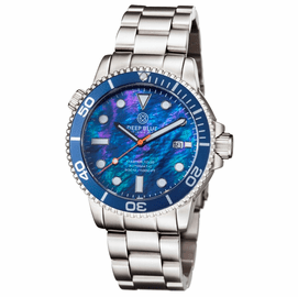 MASTER 1000 AUTOMATIC DIVER BLUE BEZEL -BLUE MOTHER OF PEARL DIAL BRACELET