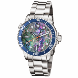 MASTER 1000 AUTOMATIC DIVER BLUE BEZEL -LARGE ABALONE SHELL DIAL BRACELET