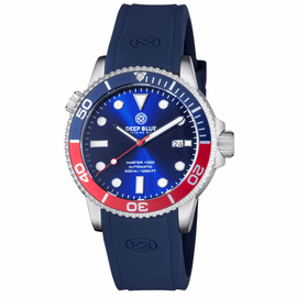 MASTER 1000 AUTOMATIC  DIVER BLUE/RED BEZEL -BLUE DIAL 20/30/40/50 BEZEL
