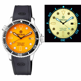 MASTER 1000 AUTOMATIC DIVER CERAMIC BLACK BEZEL - ORANGE  FULL LUMINOUS DIAL