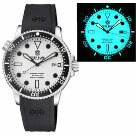MASTER 1000 AUTOMATIC DIVER CERAMIC BLACK BEZEL - WHITE FULL LUMINOUS DIAL