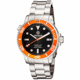MASTER 1000 AUTOMATIC DIVER ORANGE BEZEL -BLACK DIAL BRACELET
