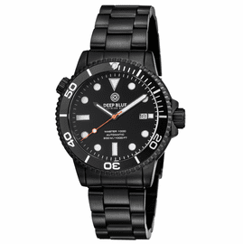 MASTER 1000 AUTOMATIC DIVER PVD BLACK CASE- BLACK BEZEL -BLACK DIAL-ORANGE SECOND HAND BRACELET