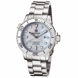 MASTER 1000 AUTOMATIC DIVER SILVER BEZEL -WHITE MOTHER OF PEARL DIAL BRACELET