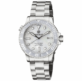 MASTER 1000 AUTOMATIC DIVER SILVER  CERAMIC BEZEL -WHITE MOTHER OF PEARL DIAL BRACELET