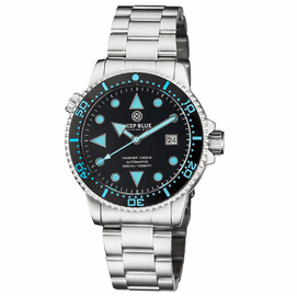 MASTER 1000 II 44MM AUTOMATIC DIVER BLACK BLUE CERAMIC BEZEL ARROW VINTAGE BLACK DIAL BRACELET