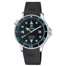 MASTER 1000 II 44MM AUTOMATIC DIVER BLACK BLUE CERAMIC BEZEL ARROW VINTAGE BLACK  DIAL STRAP