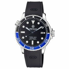 MASTER  1000 II  44MM  AUTOMATIC DIVER BLACK/BLUE CERAMIC BEZEL -BLACK GLOSSY DIAL-BLUE HANDS