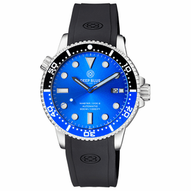 MASTER  1000 II  44MM  AUTOMATIC DIVER BLACK/BLUE CERAMIC BEZEL -BLUE SUNRAY DIAL