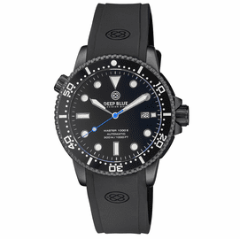 MASTER  1000 II  44MM  AUTOMATIC DIVER BLACK CERAMIC BEZEL -BLACK DIAL-PVD BLACK CASE BLUE SEC