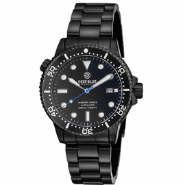 MASTER  1000 II  44MM  AUTOMATIC DIVER BLACK CERAMIC BEZEL -BLACK DIAL-PVD BLACK CASE BLUE SECOND HAND