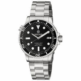MASTER  1000 II  44MM  AUTOMATIC DIVER BLACK CERAMIC BEZEL -BLACK GLOSSY DIAL-BLACK HANDS