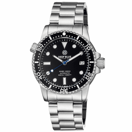 MASTER  1000 II  44MM  AUTOMATIC DIVER BLACK CERAMIC BEZEL -BLACK GLOSSY DIAL-BLUE SECOND HAND