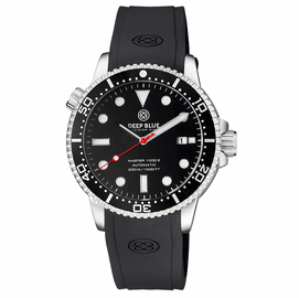 MASTER  1000 II  44MM  AUTOMATIC DIVER BLACK CERAMIC BEZEL -BLACK GLOSSY DIAL-RED SECOND HAND