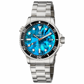 MASTER  1000 II  44MM  AUTOMATIC DIVER BLACK CERAMIC BEZEL -BLUE ABALONE DIAL