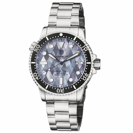 MASTER 1000 II 44MM AUTOMATIC DIVER BLACK CERAMIC BEZEL DIAMOND MOTHER OF PEARL DIAL BRACELET