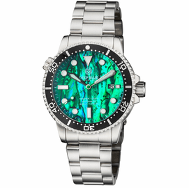 MASTER  1000 II  44MM  AUTOMATIC DIVER BLACK CERAMIC BEZEL -GREEN ABALONE DIAL