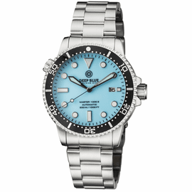 MASTER 1000 II 44MM AUTOMATIC DIVER BLACK CERAMIC BEZEL � ICE BLUE DIAL BRACELET