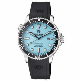 MASTER 1000 II 44MM AUTOMATIC DIVER BLACK CERAMIC BEZEL � MATTE  ICE BLUE  DIAL STRAP